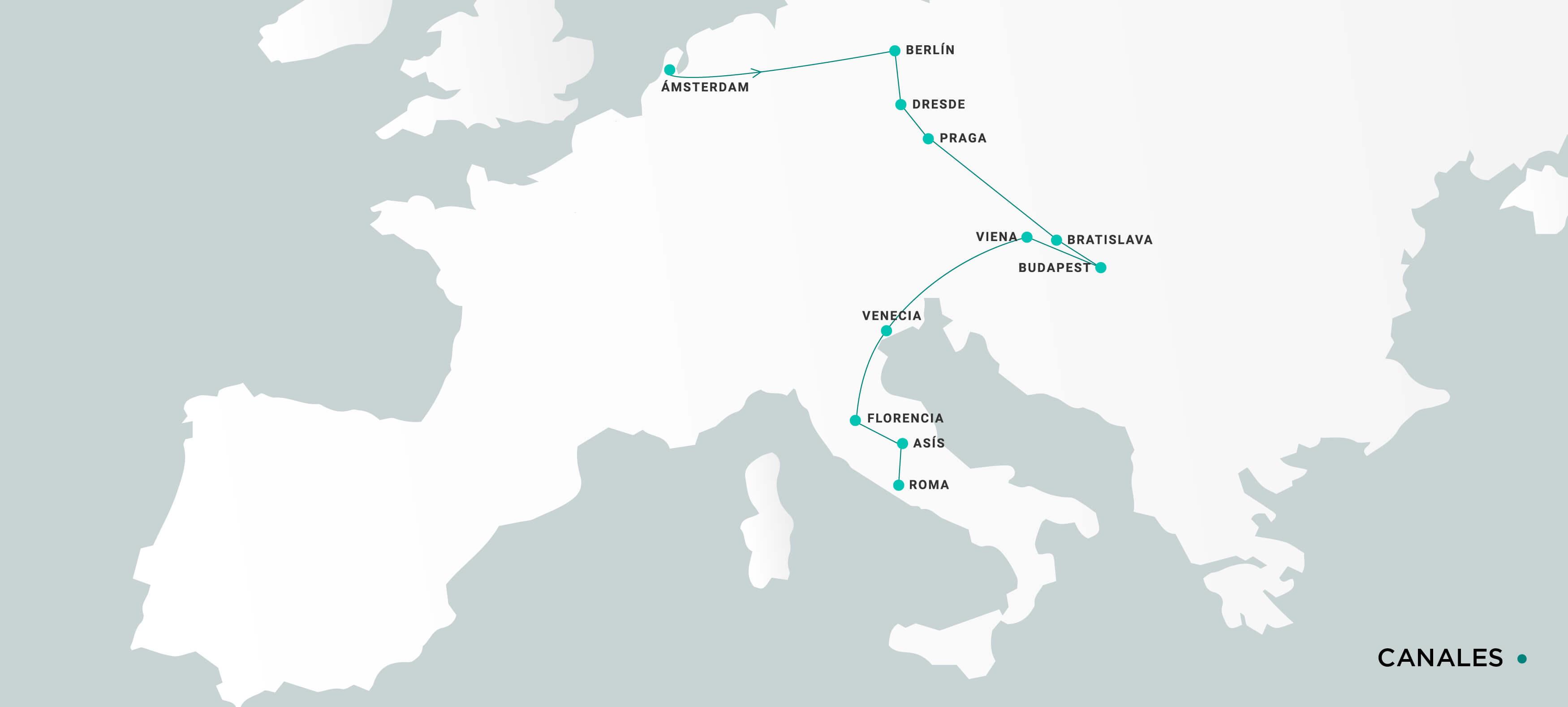 Mapa Canales