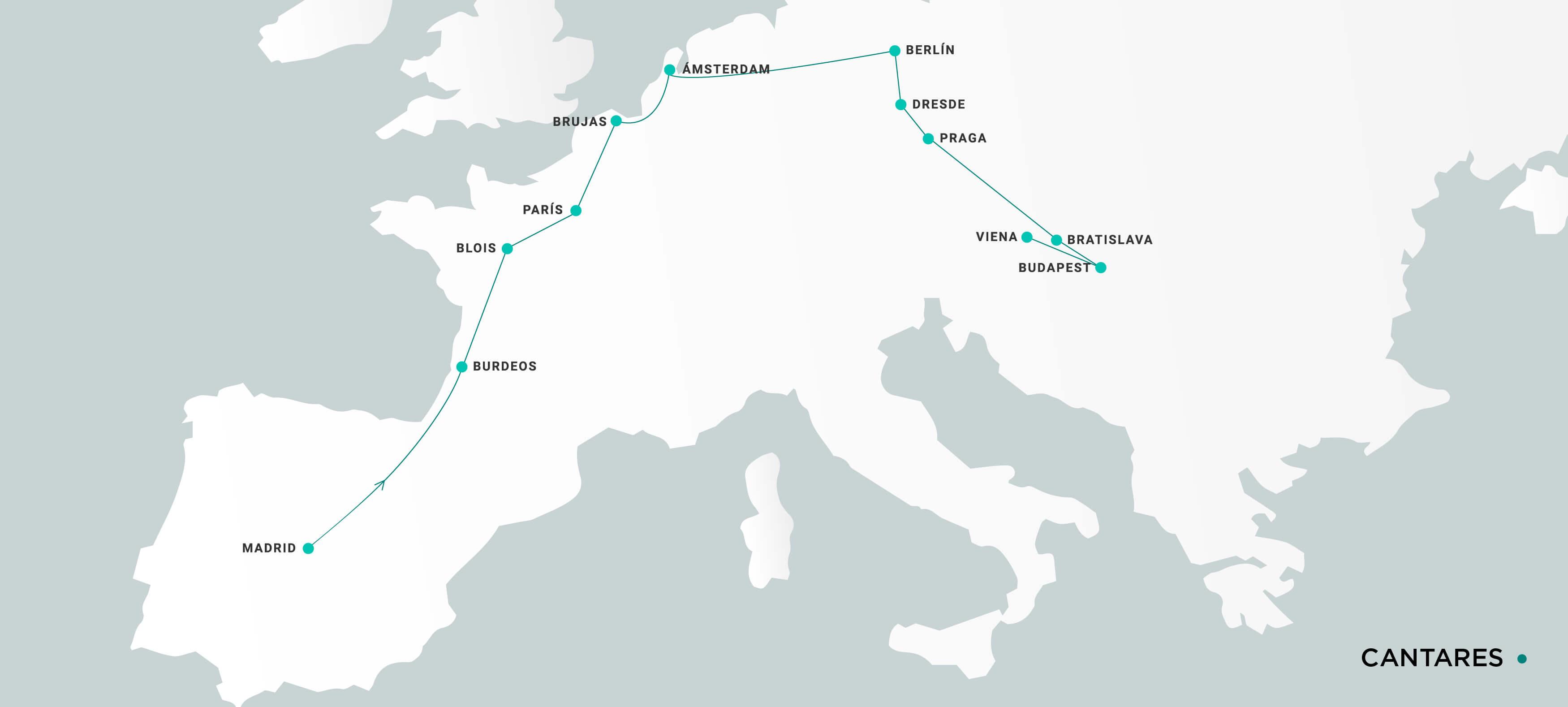 Mapa Cantares