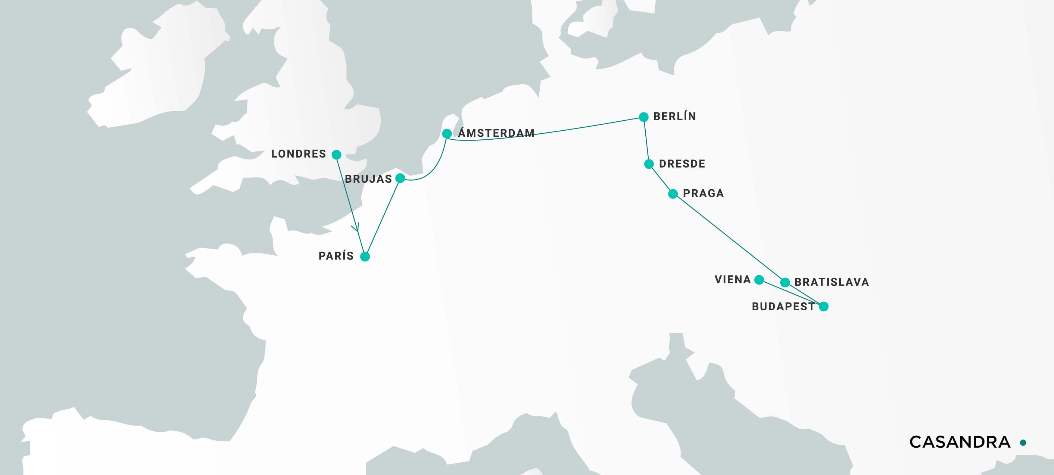 Mapa Casandra