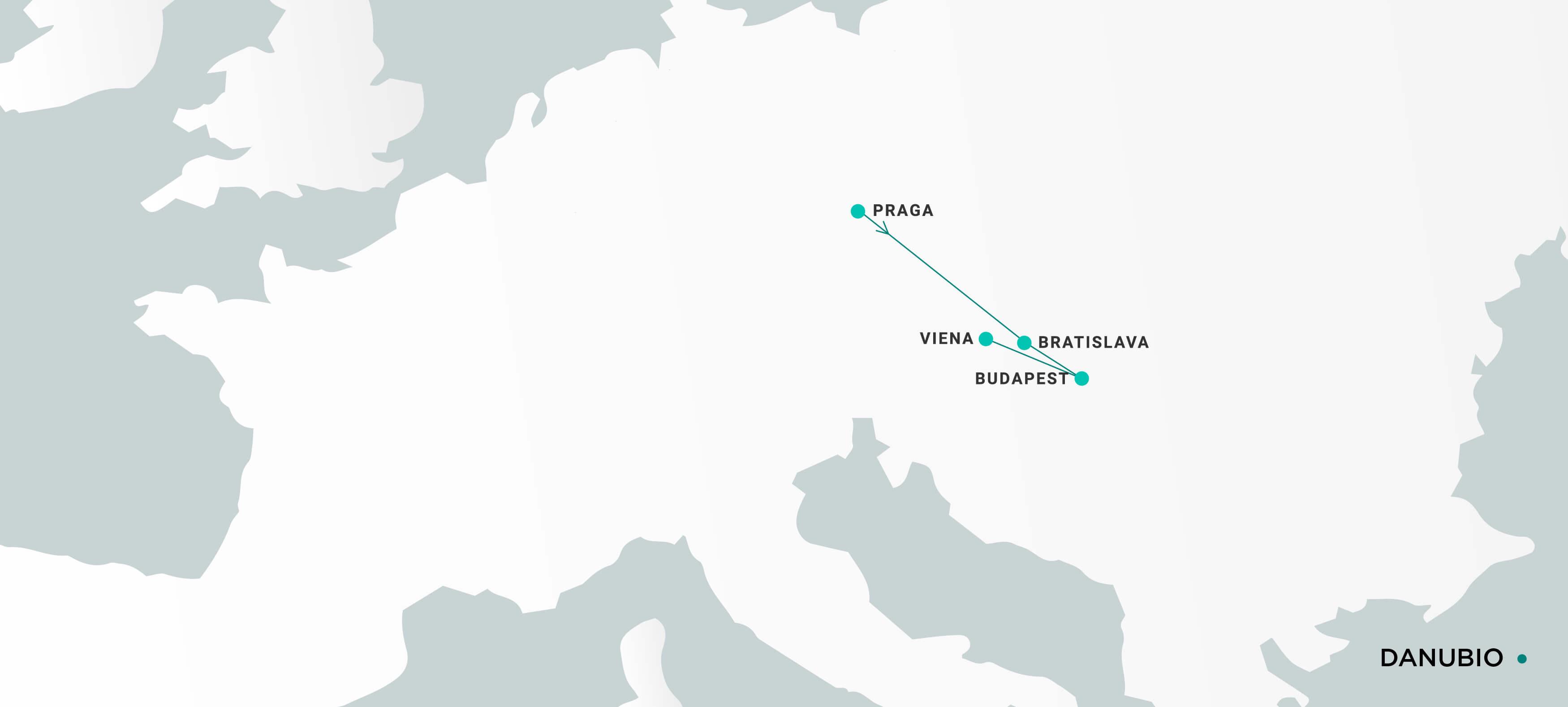 Mapa Danubio