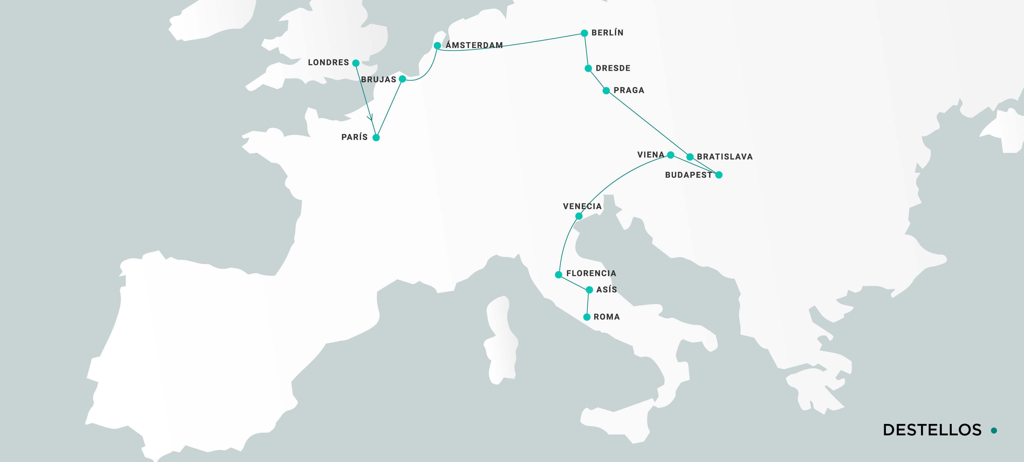 Mapa Destellos