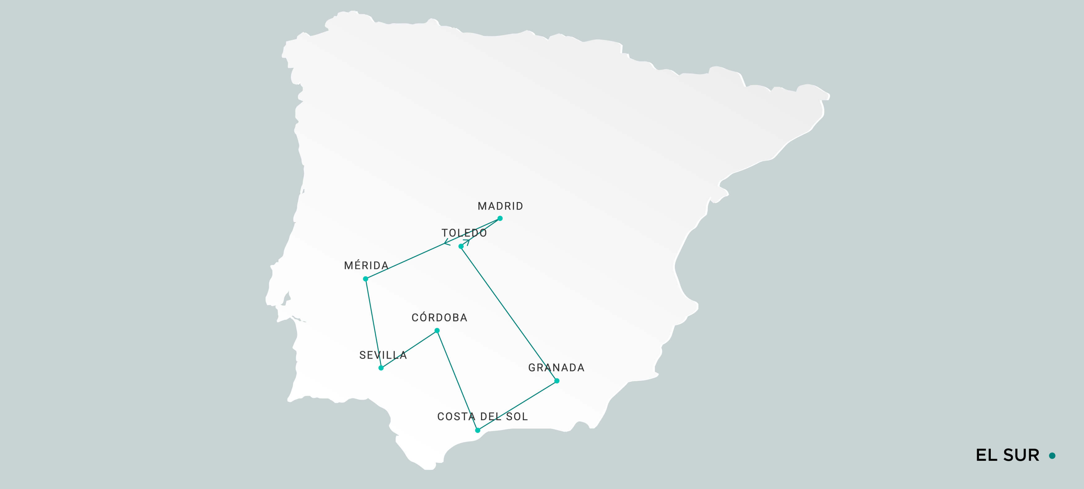 Mapa El Sur