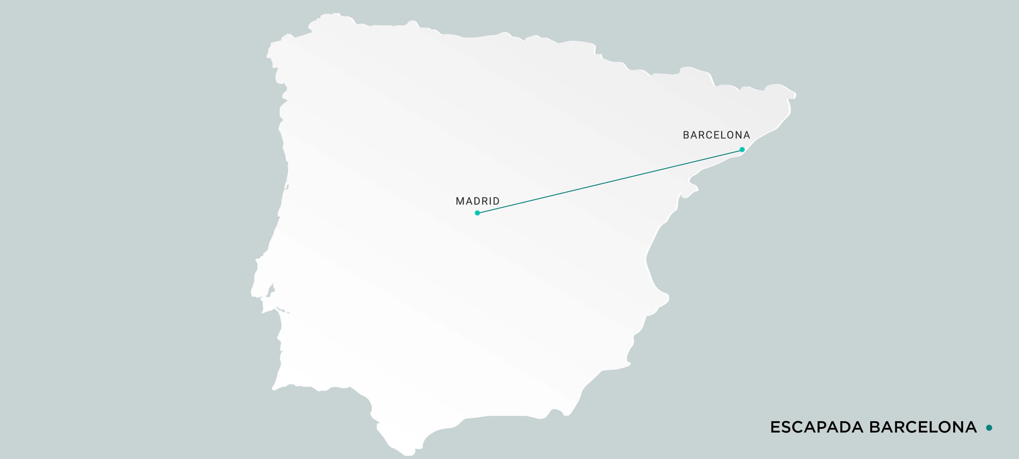 Mapa Escapada en Ave a Barcelona
