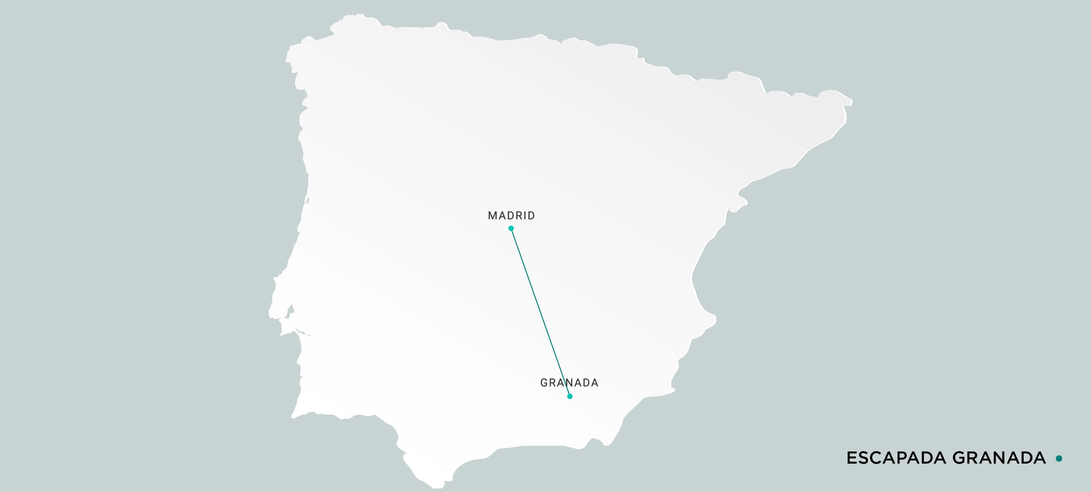 Mapa Escapada en Ave a Granada
