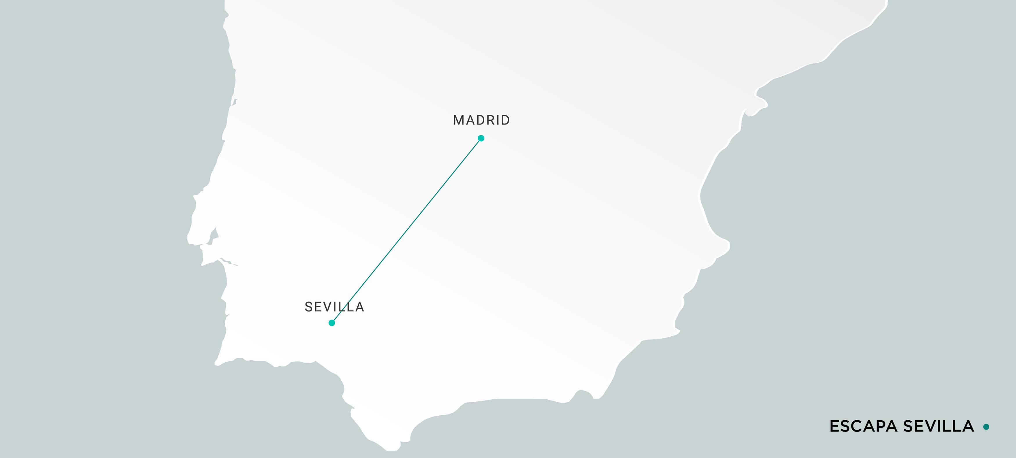 Mapa Escapada en Ave a Sevilla