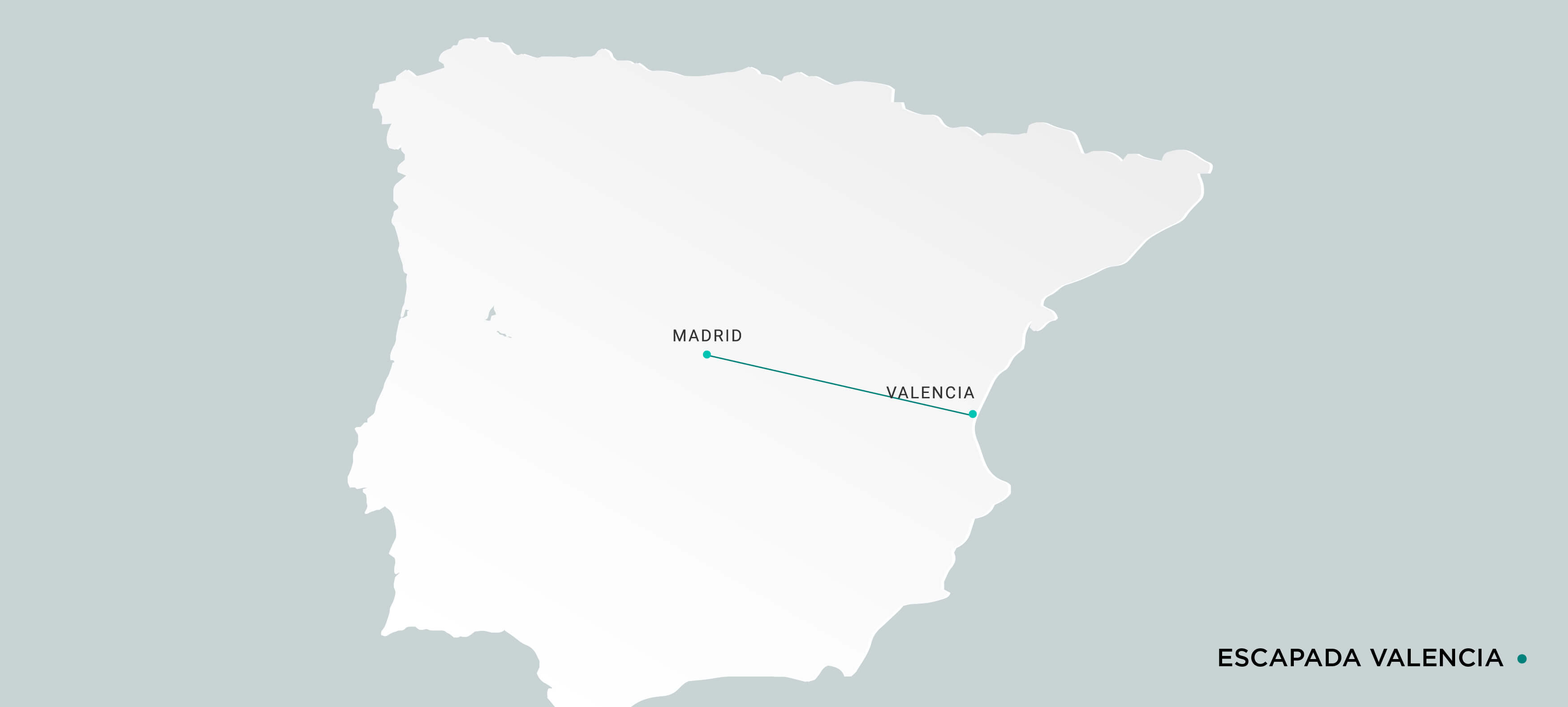 Mapa Escapada en Ave a Valencia