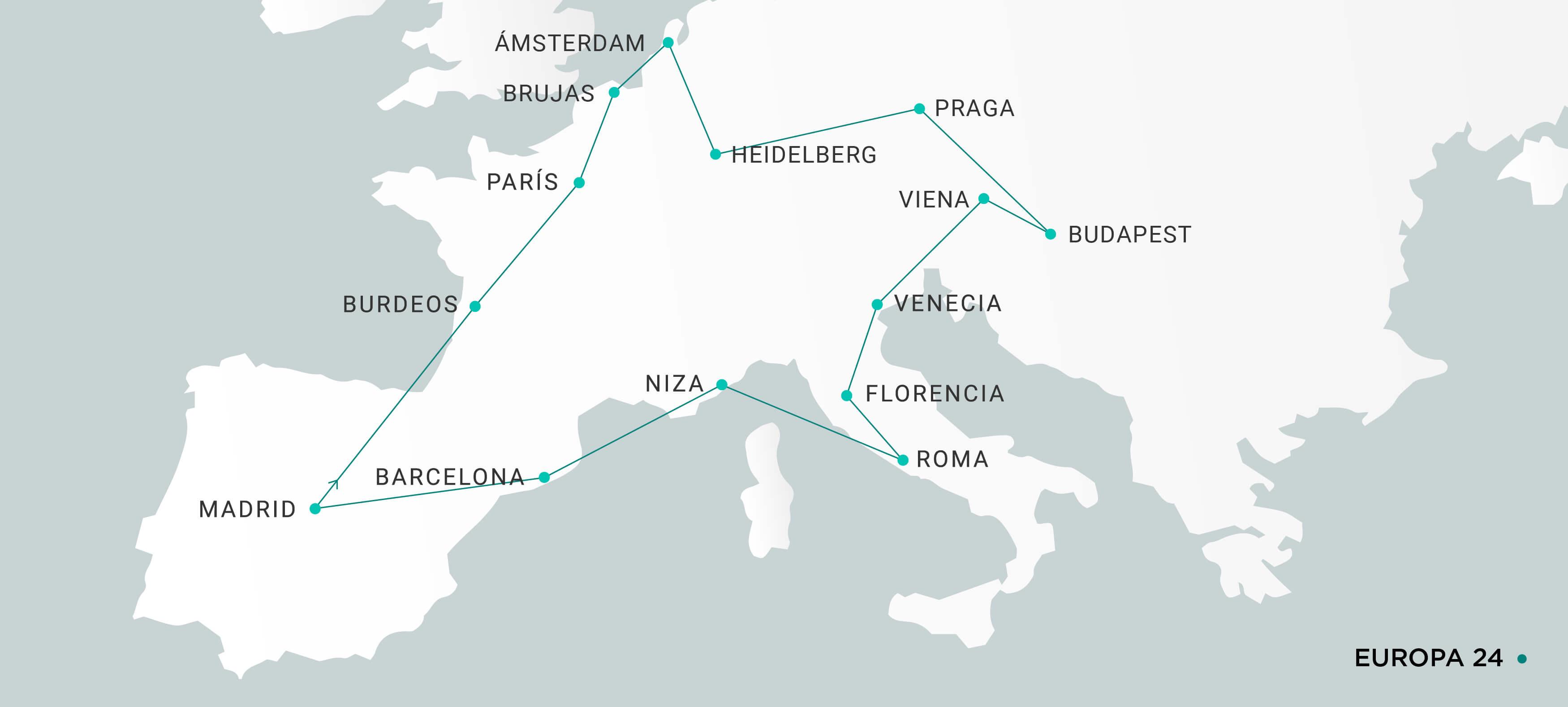 Mapa Europa 24