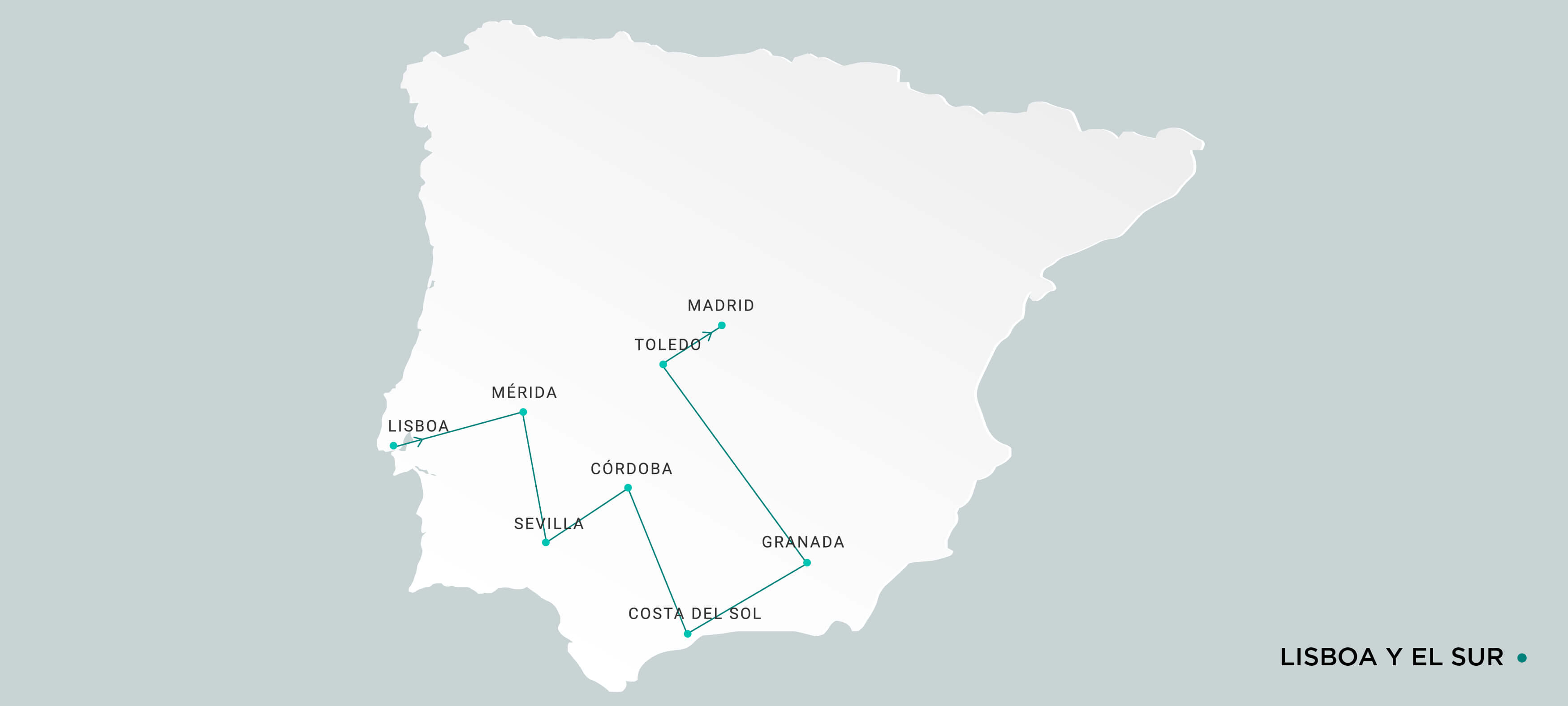 Mapa Lisboa y Sur