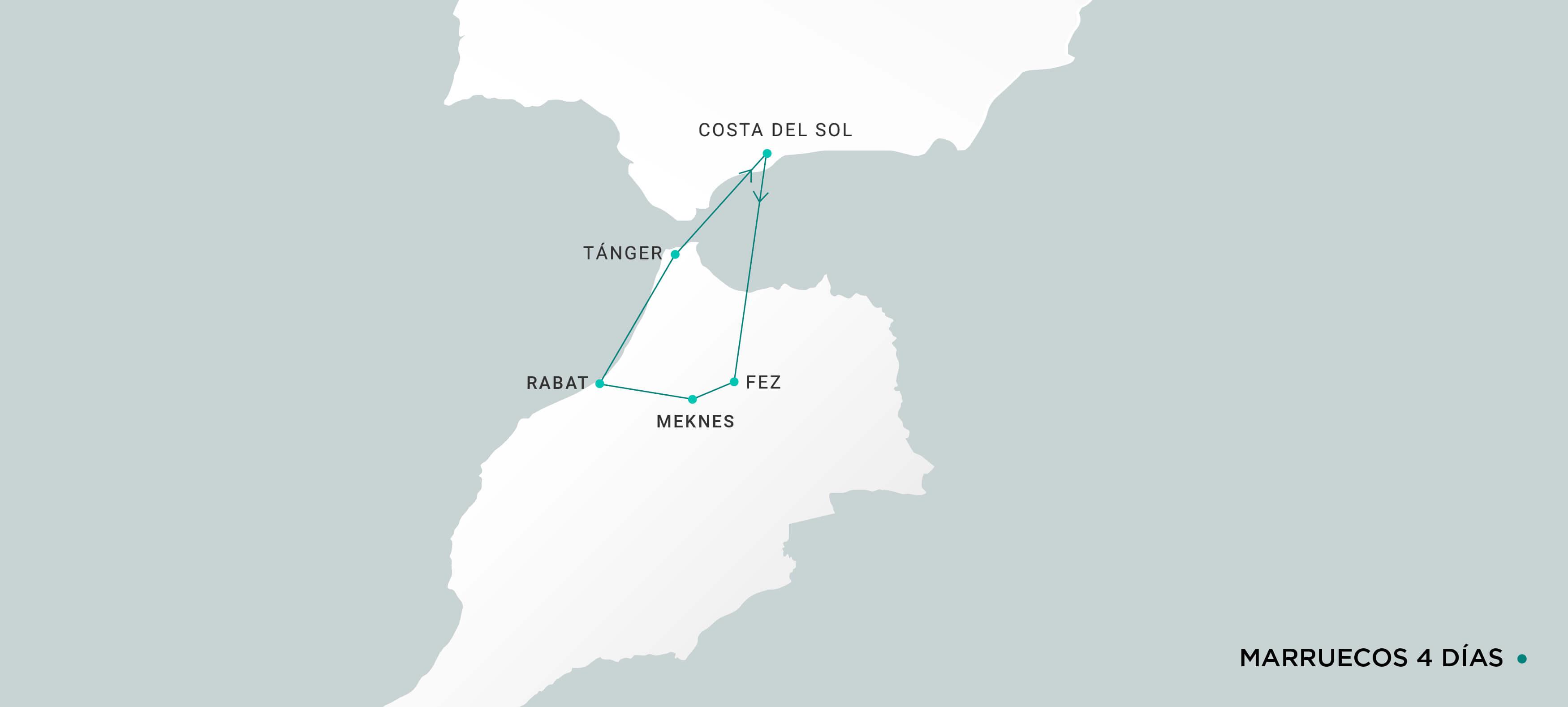 Mapa Marruecos 4 días