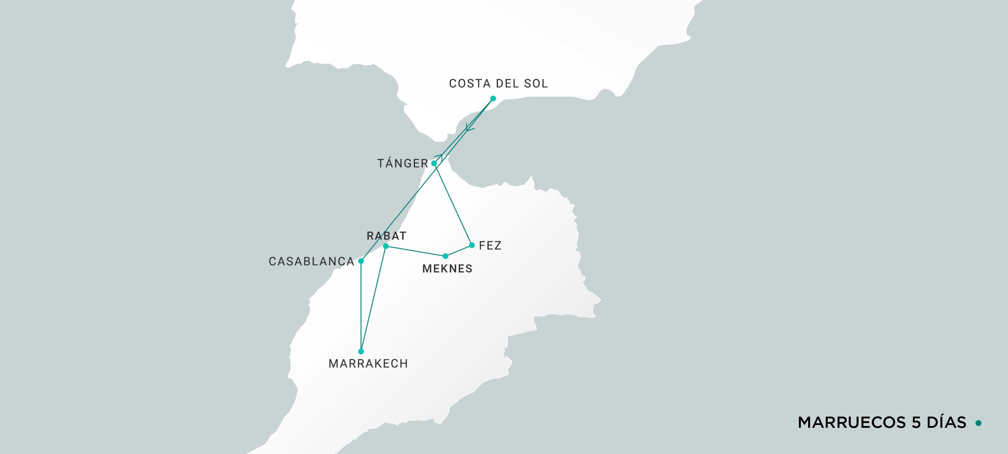 Mapa Marruecos 5 días
