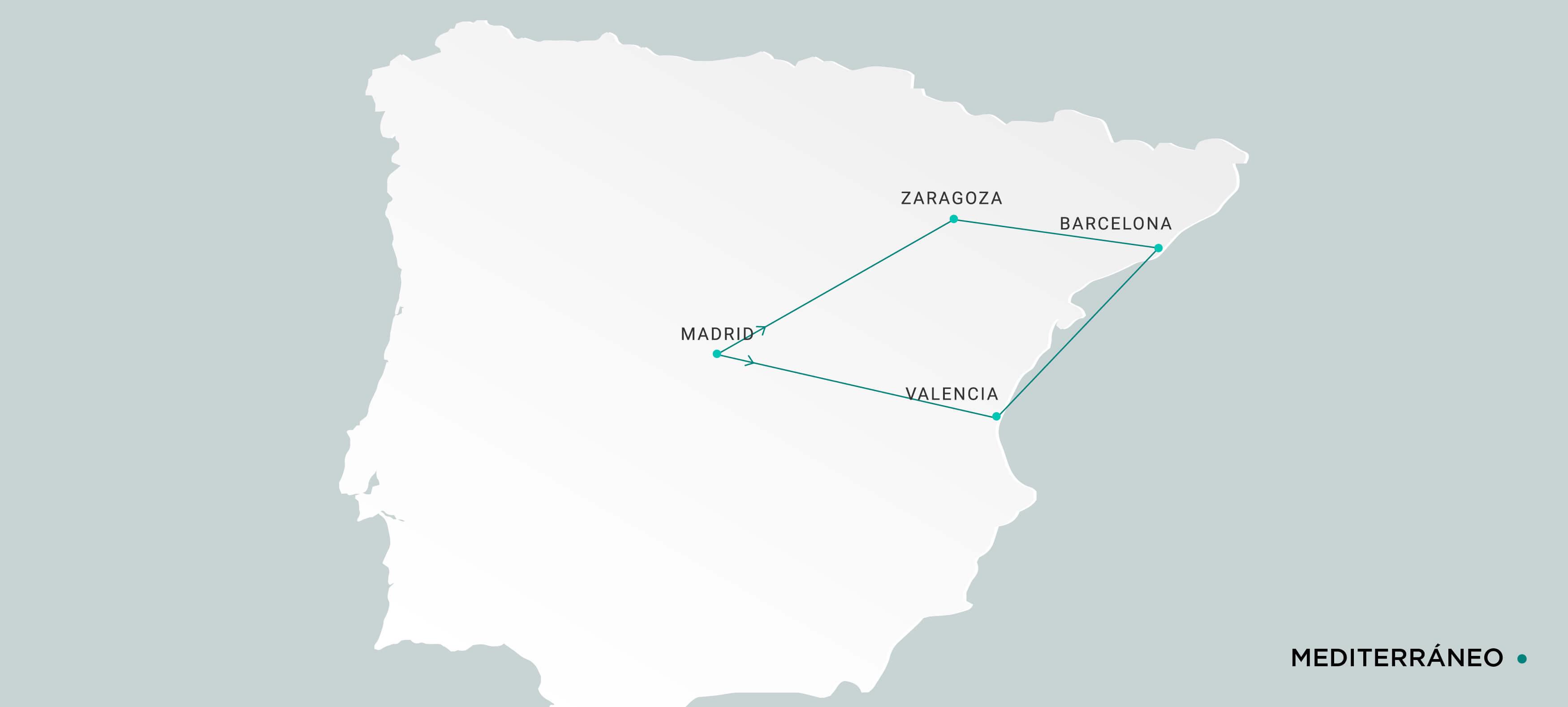 Mapa Mediterráneo