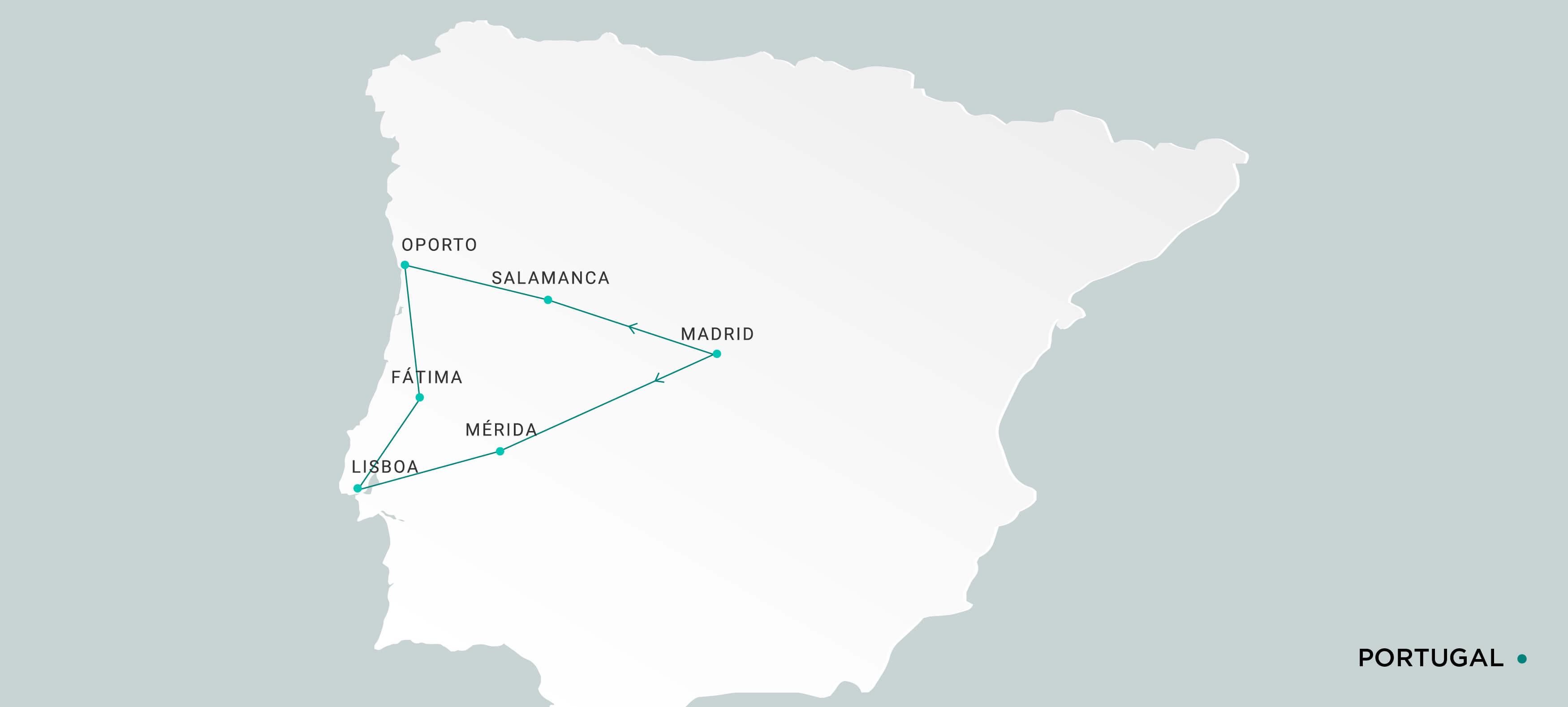 Mapa Portugal