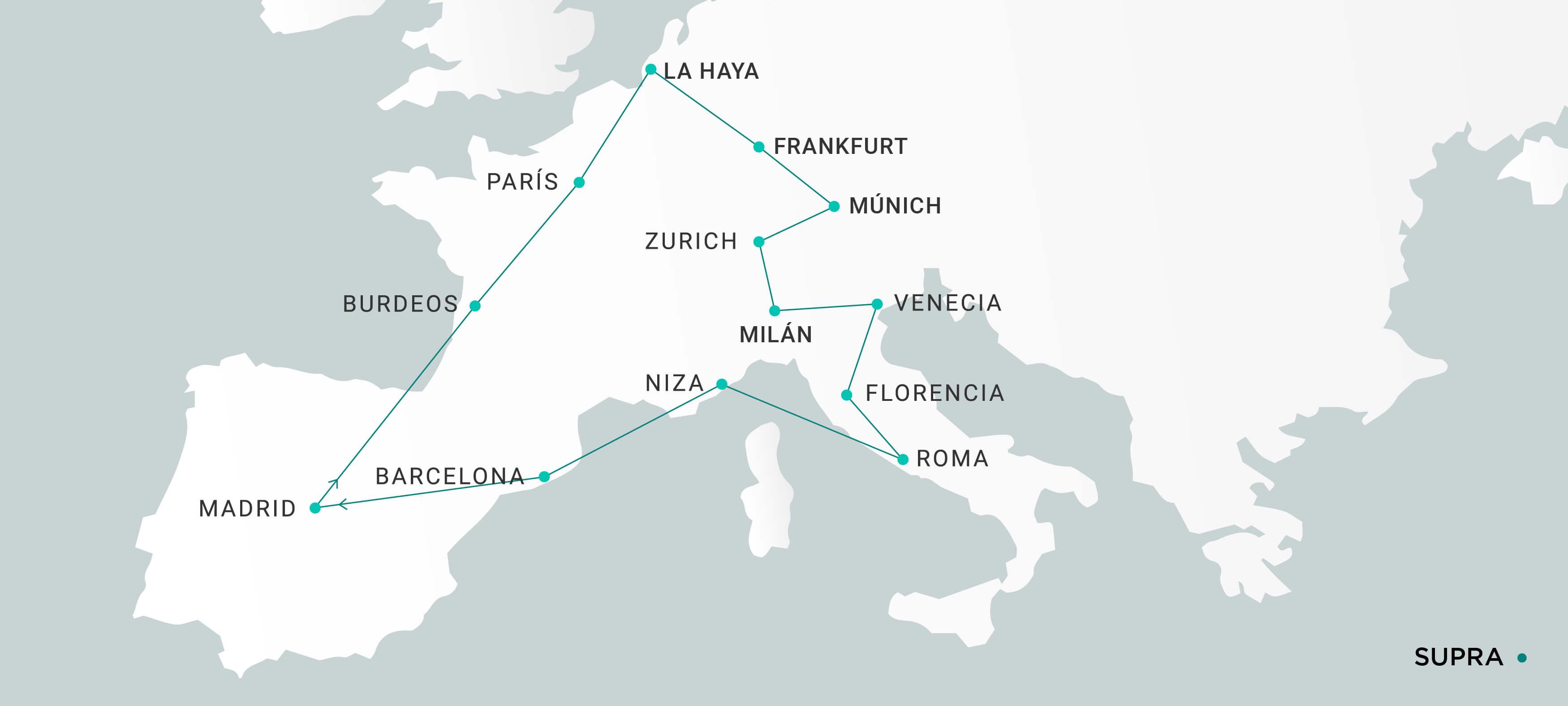 Mapa Supra