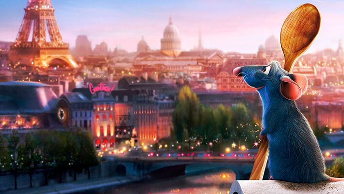 Ratatouille - Películas para viajar a Europa sin salir de casa