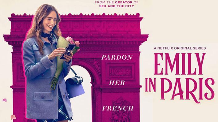 Emily en París - Series para viajar a Francia