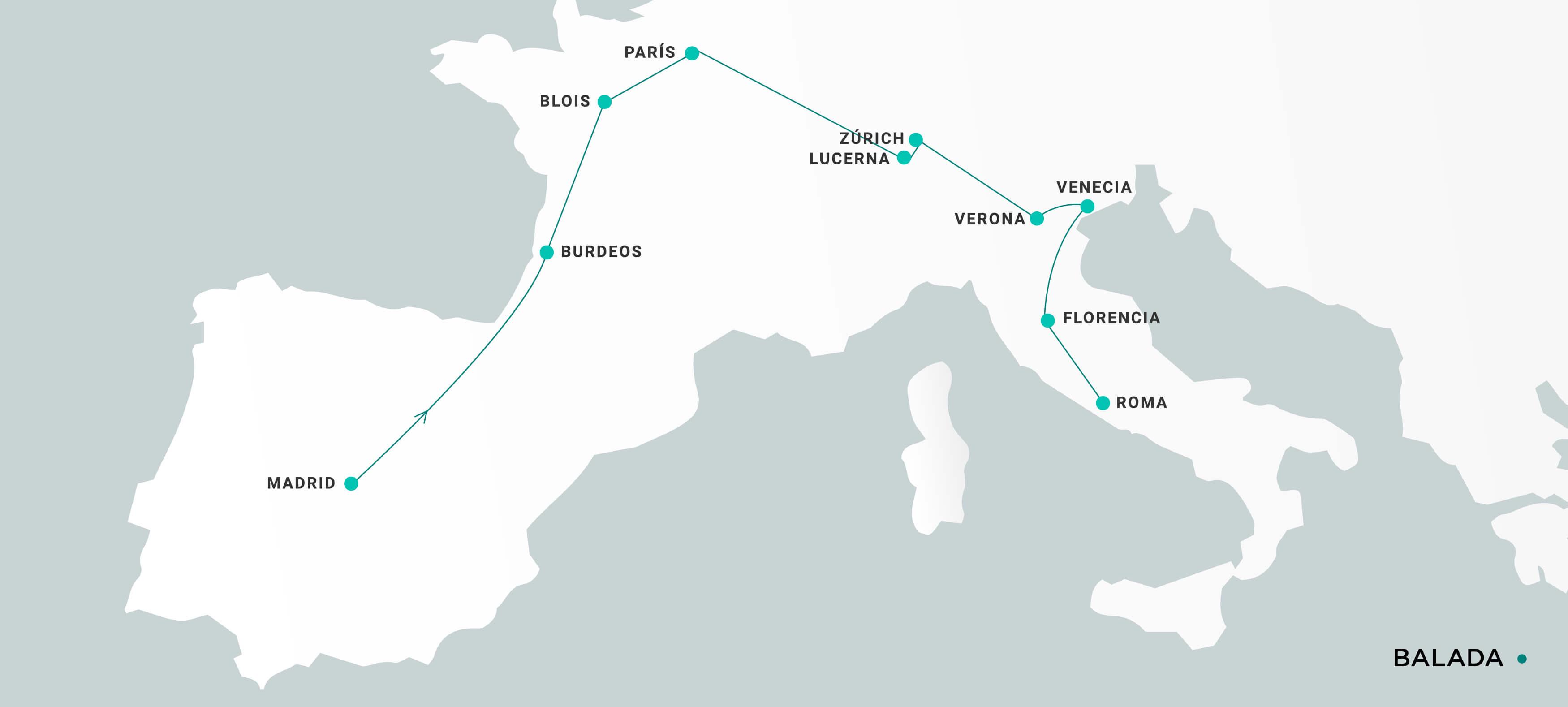 Mapa Balada