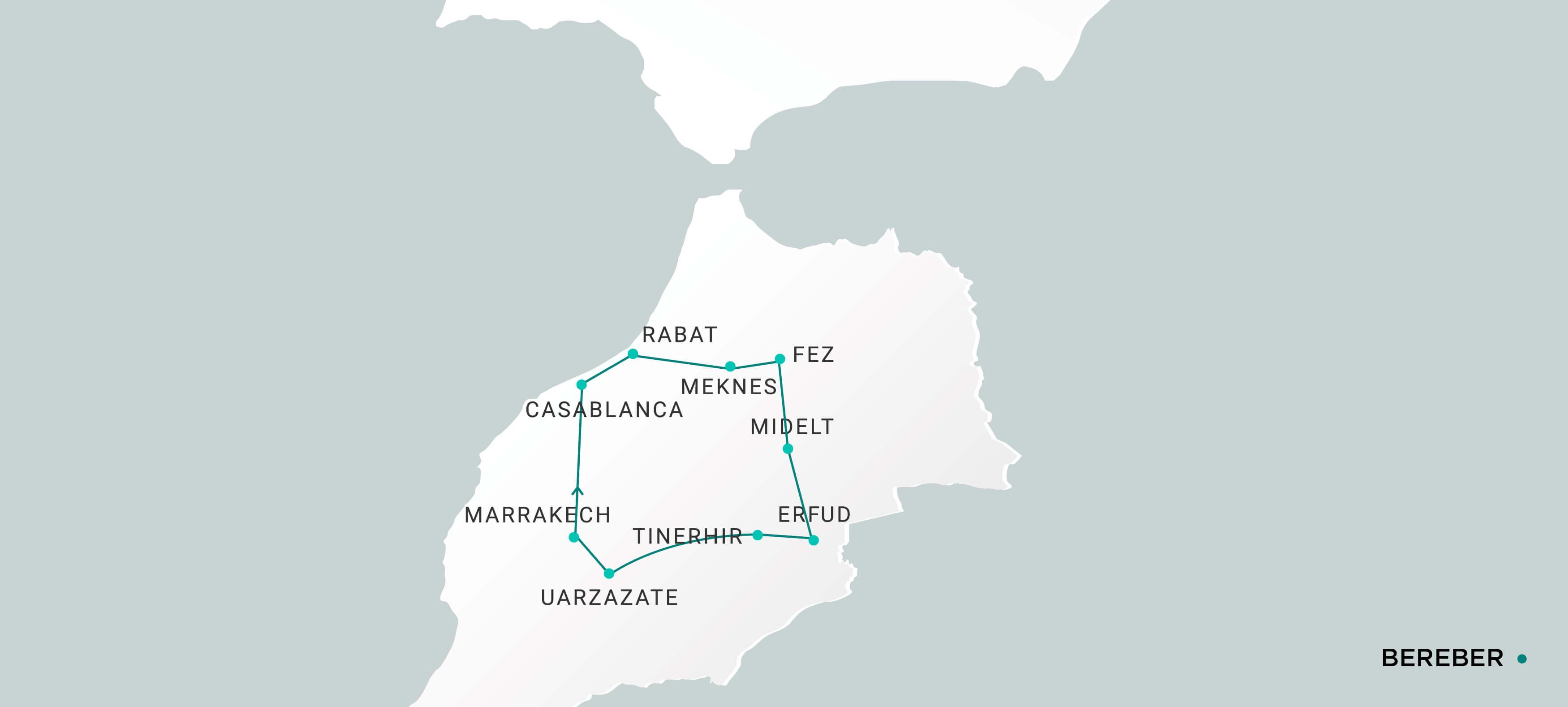 Mapa Bereber