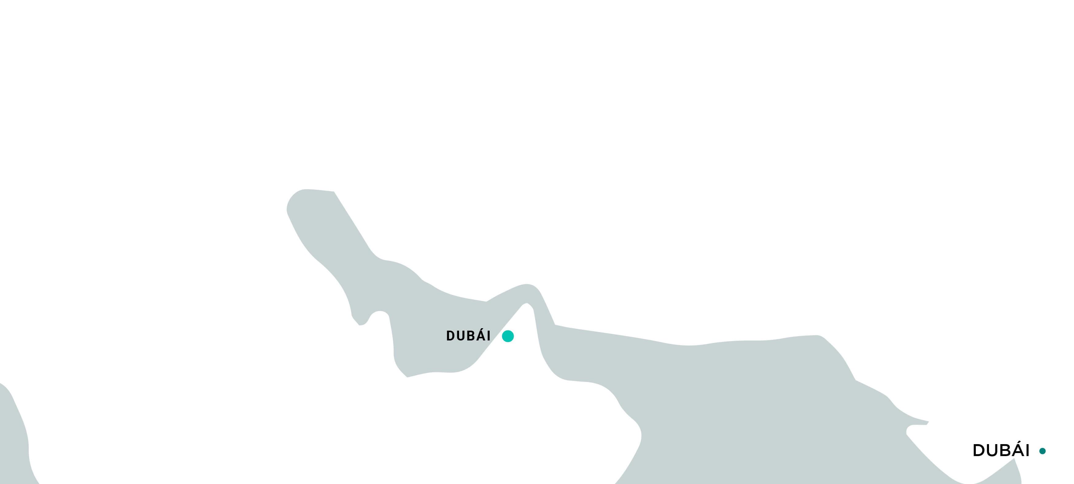 Mapa Dubái