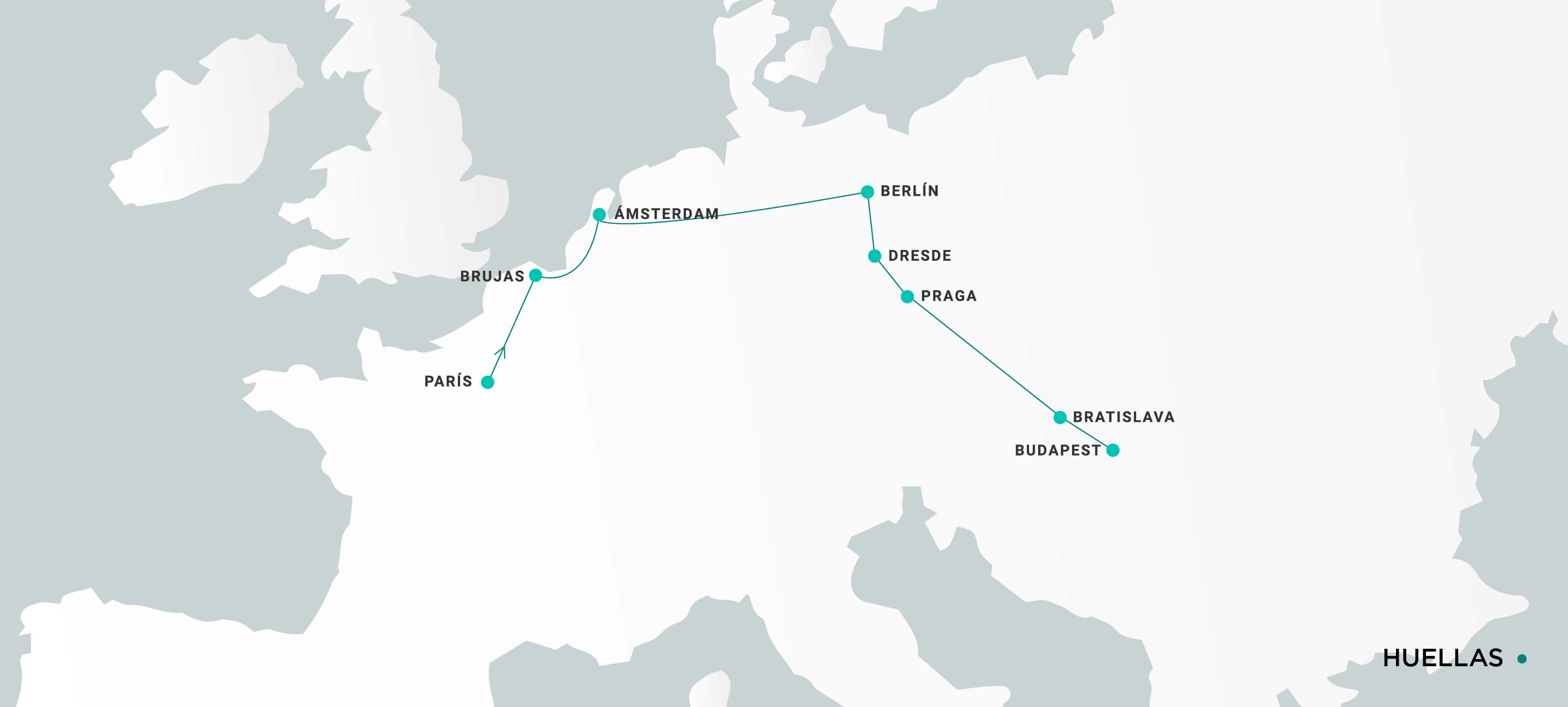 Mapa Huellas