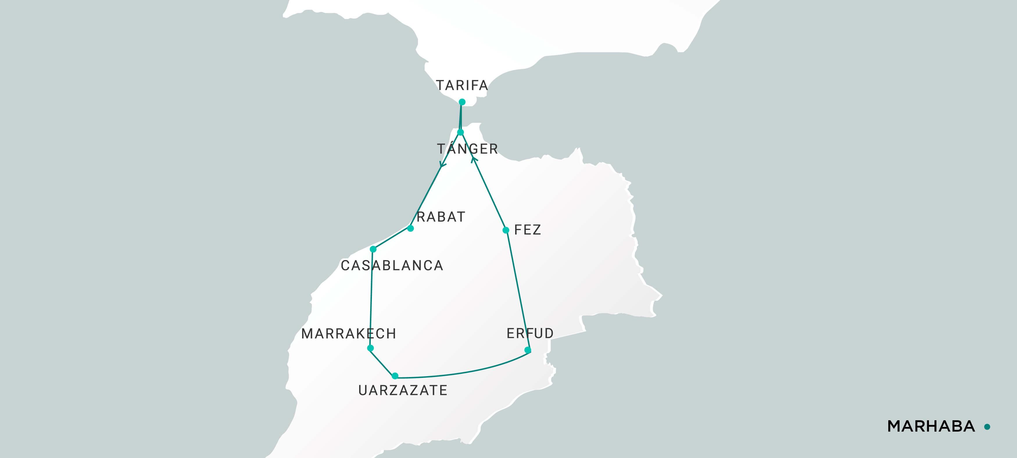 Mapa Marhaba