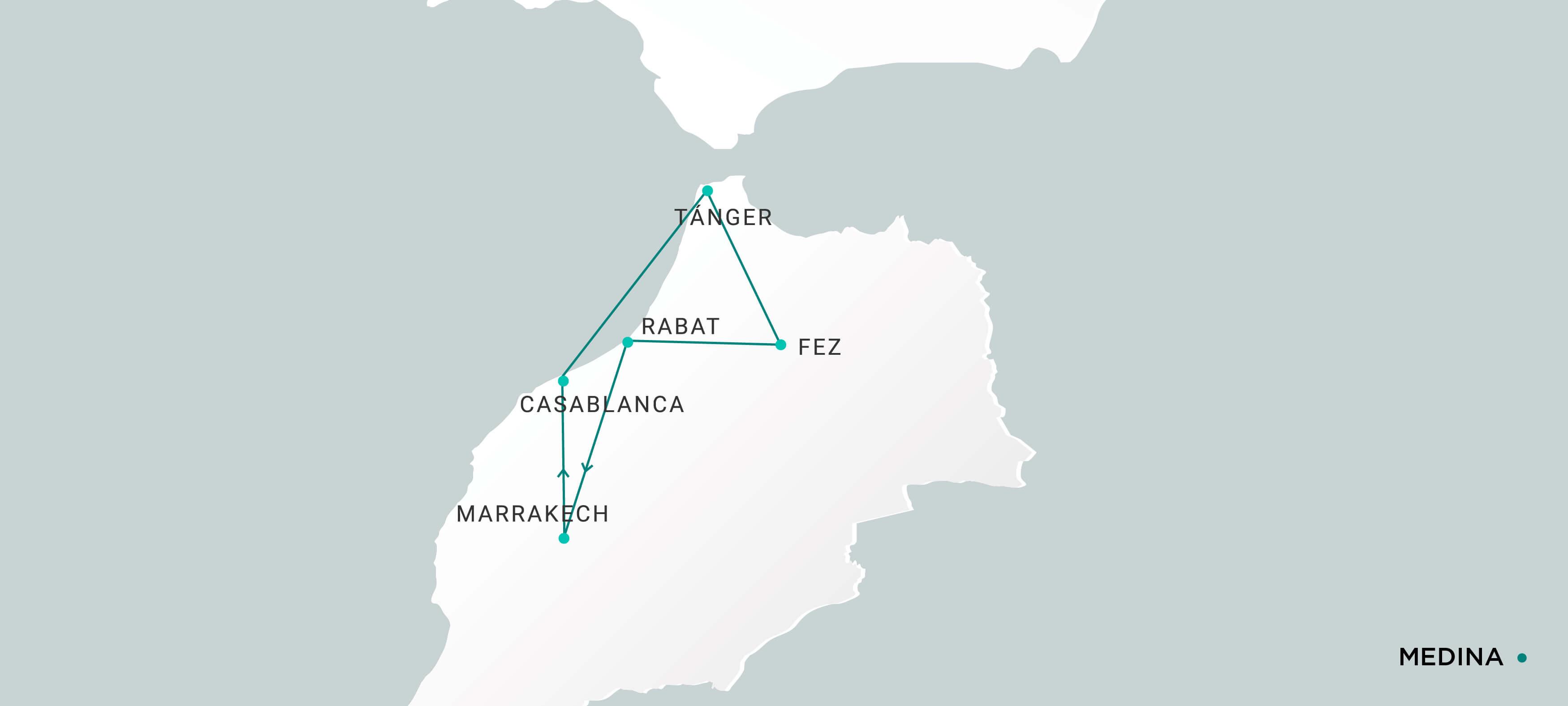 Mapa Medina