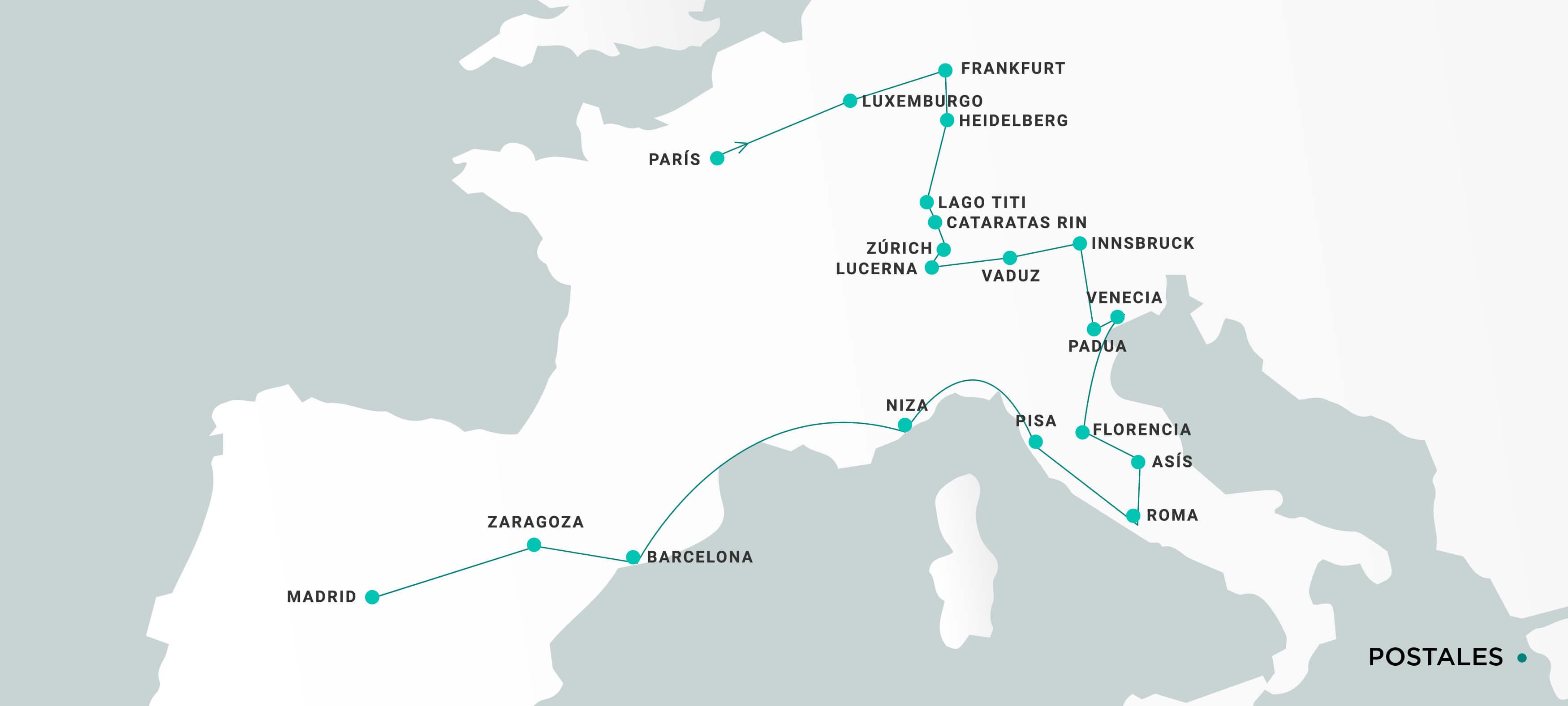 Mapa Postales
