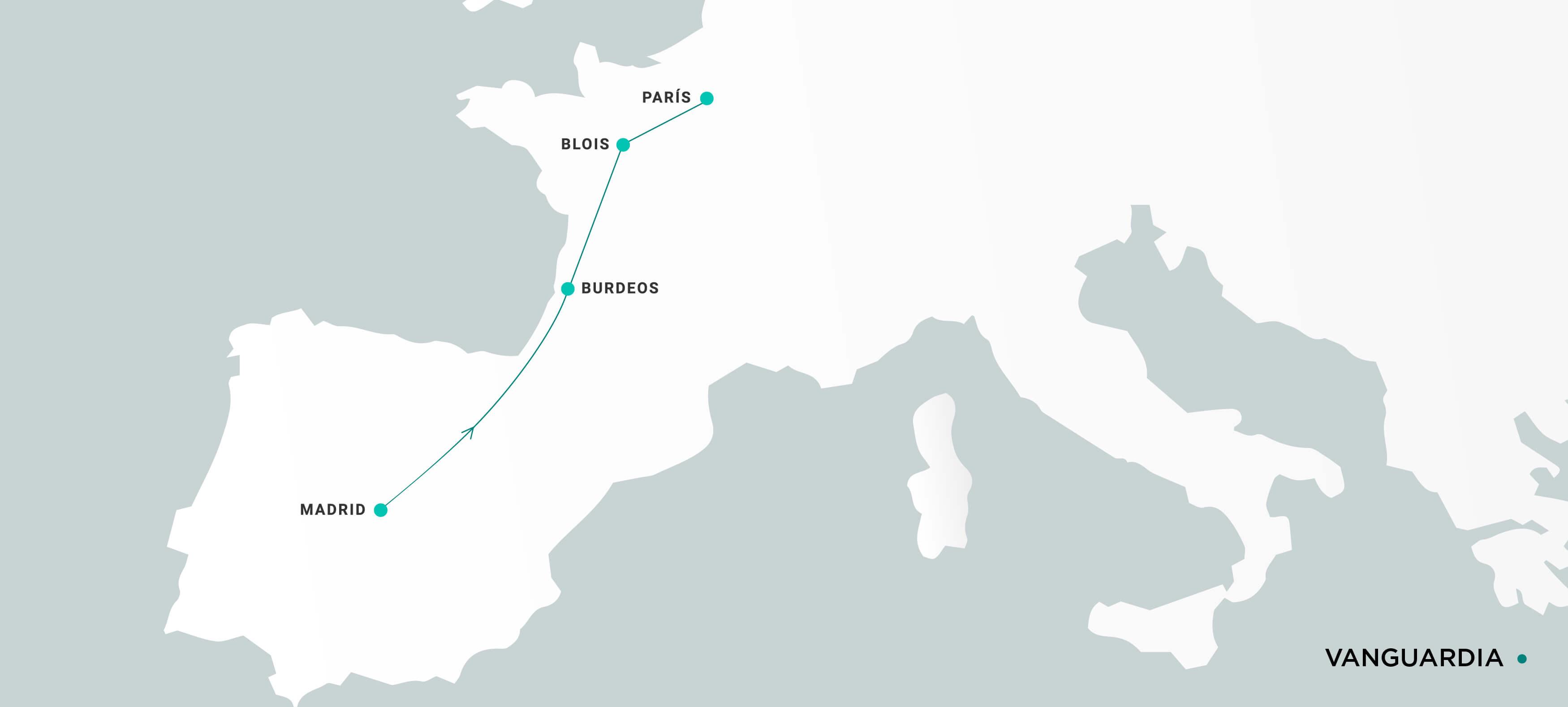 Mapa Vanguardia