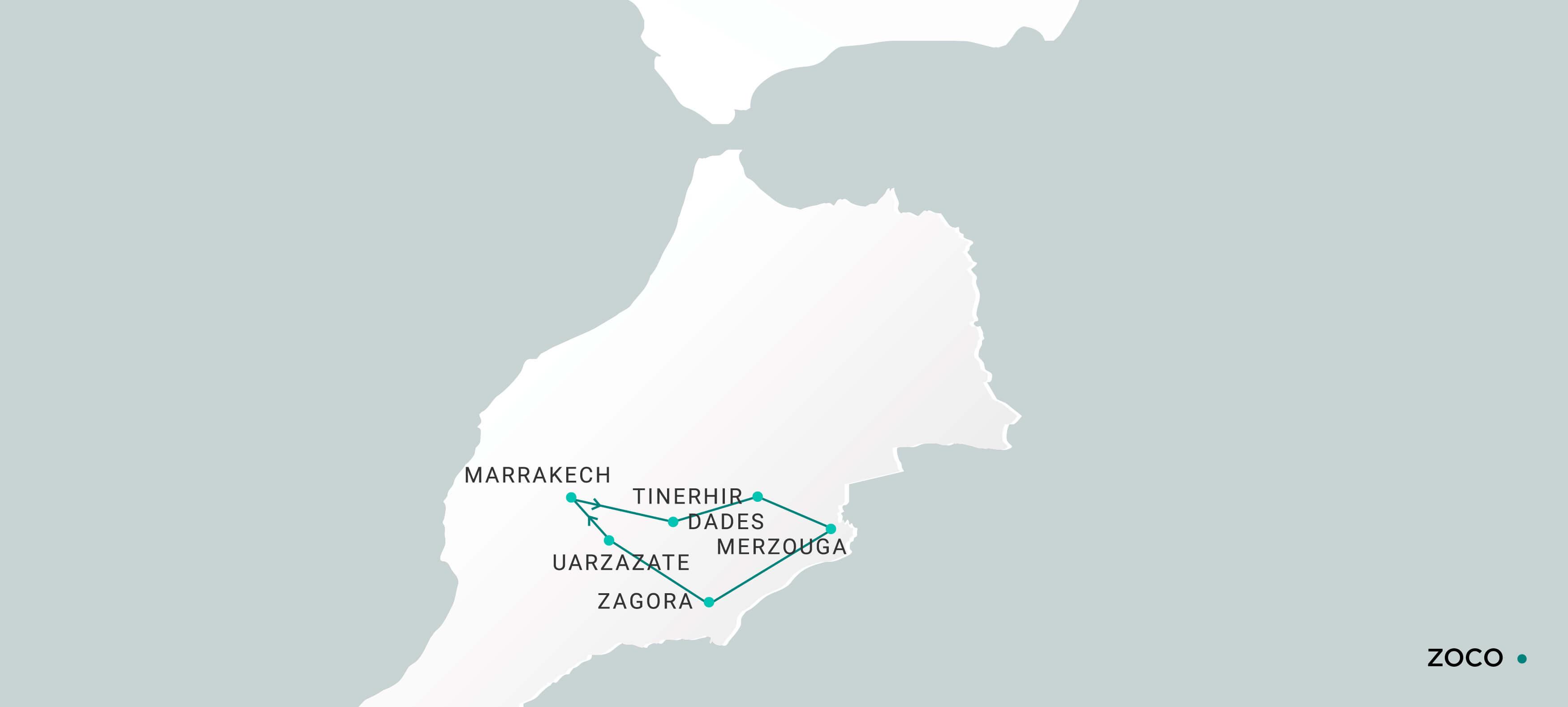 Mapa Zoco